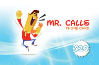 Mr Calls Phone Card $20